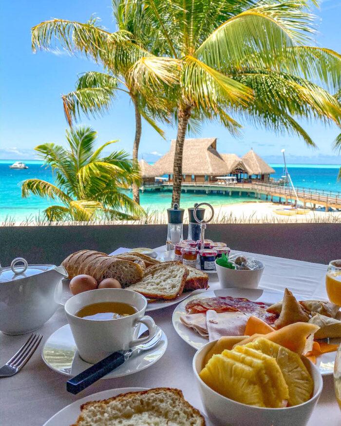 conrad bora bora nui breakfast