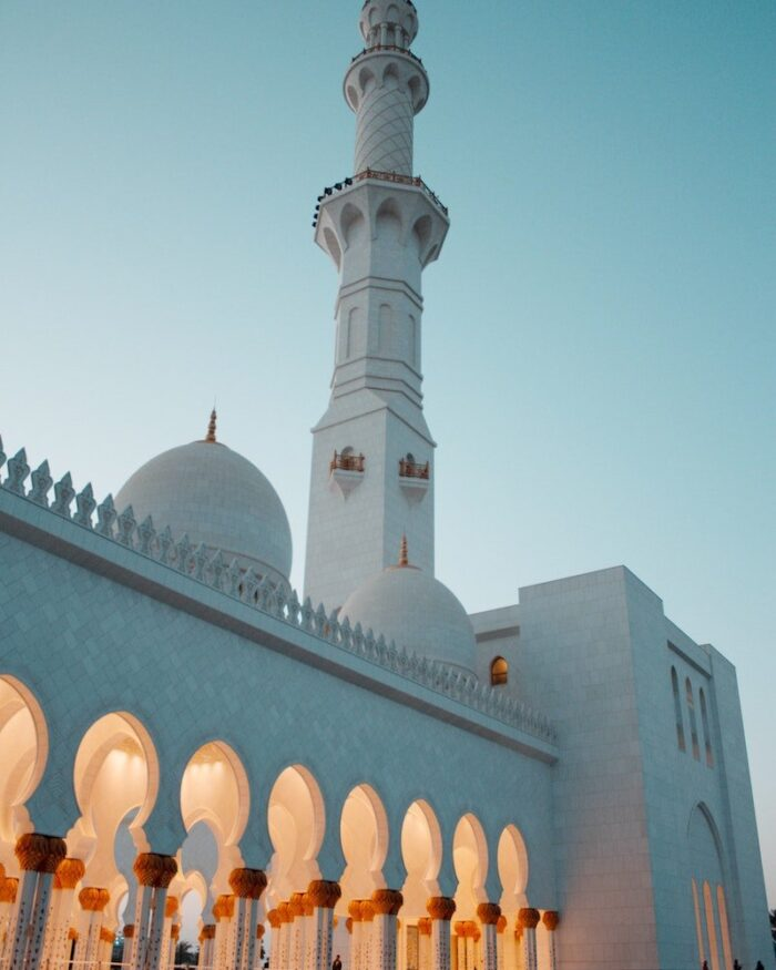 abu dhabi mosque evening