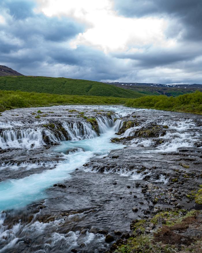 Island Highlights Bruarfoss waterfall