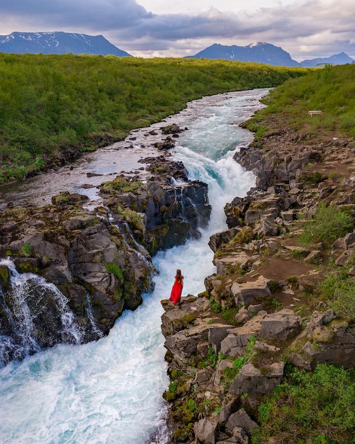 Island Highlights waterfall