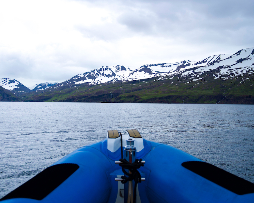 boat with Mountain View