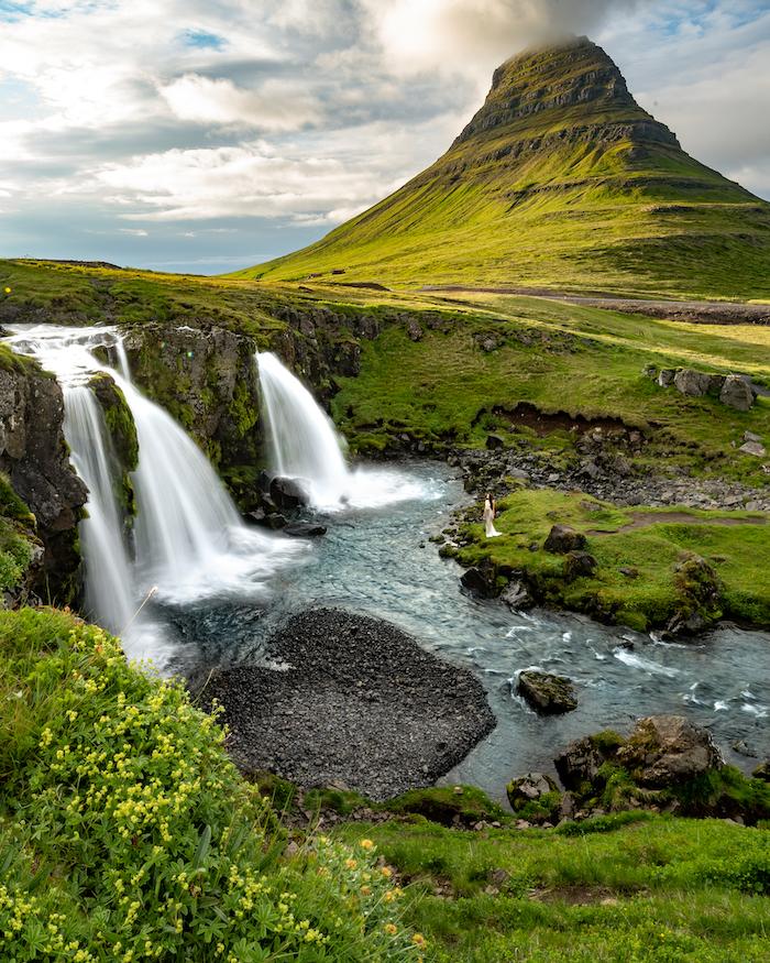 Island Highlights Kirkjufell waterfall