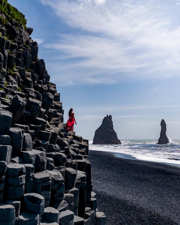 Island Highlights black beach reynisfjara