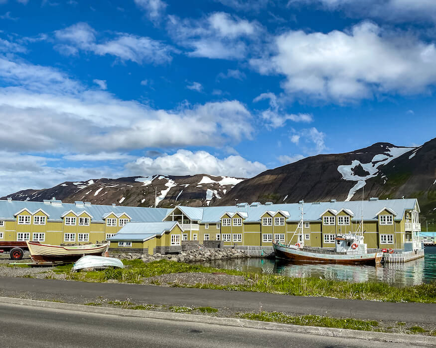 the siglo hotel in Siglufjördur in iceland