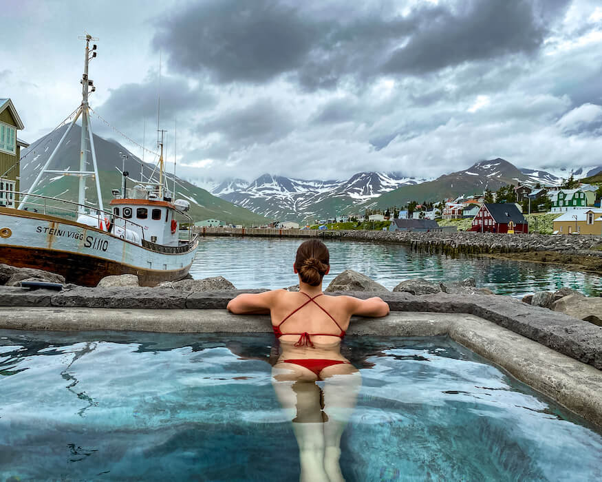 the hot tube of the siglo hotel in iceland