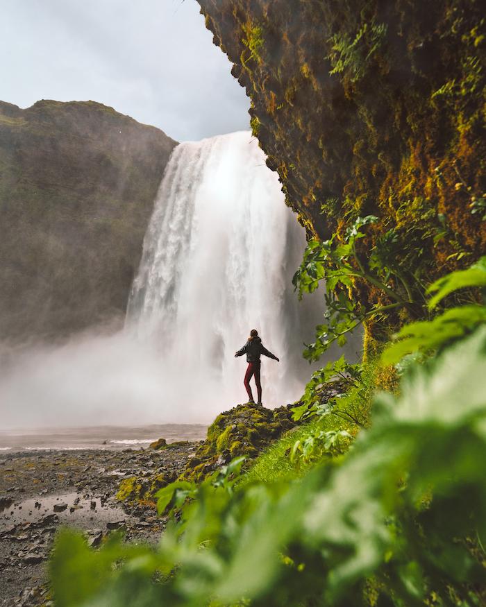 Island Highlights Skogafoss waterfall