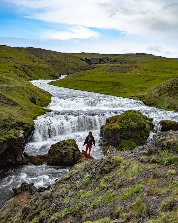 small waterfall best things to do in Iceland