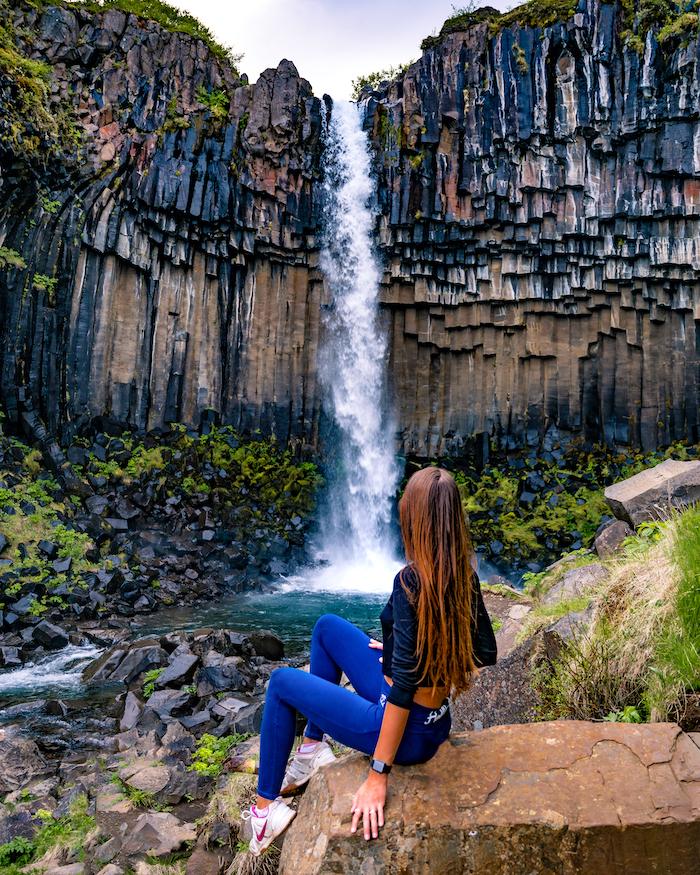 Island Highlights Svartifoss waterfall