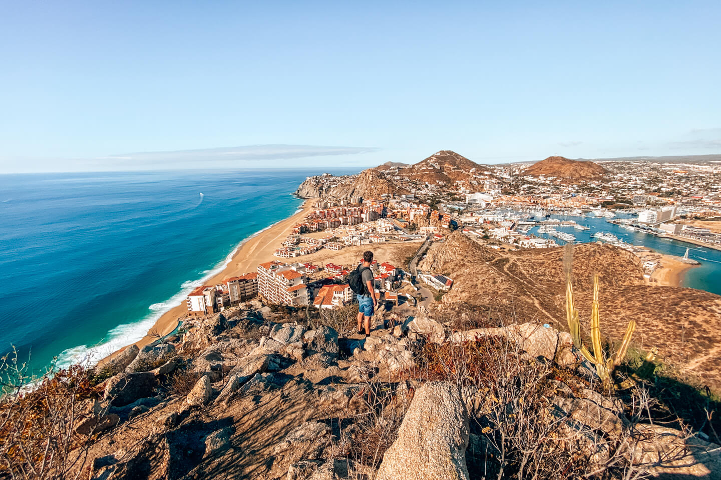 view from mount Solmar over Cabo San Lucas