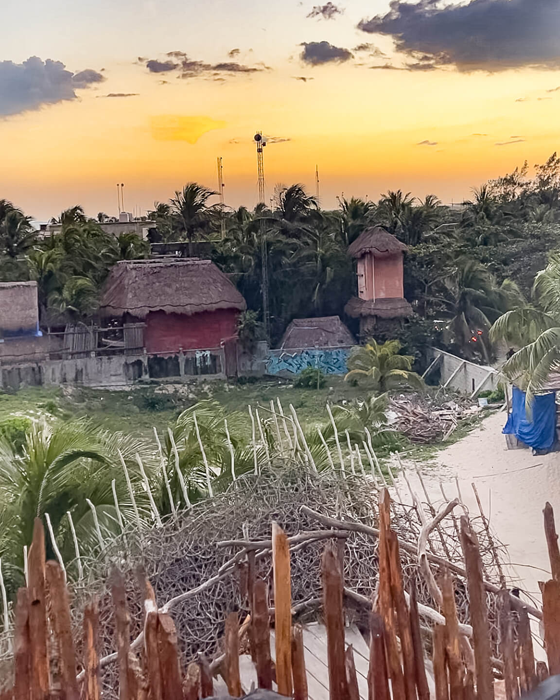 reality of the view from the nests at the azulik hotel Tulum