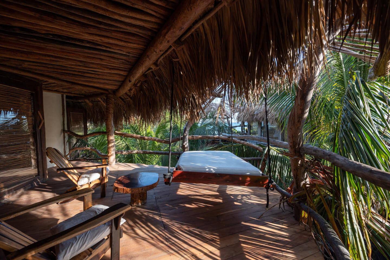 terrace of jungle villa in Azulik Tulum