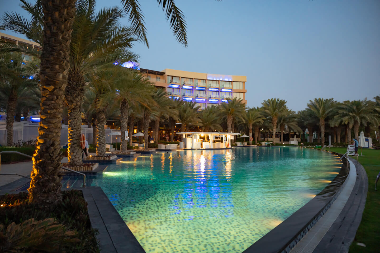 Rixos The Palm Dubai pool at night