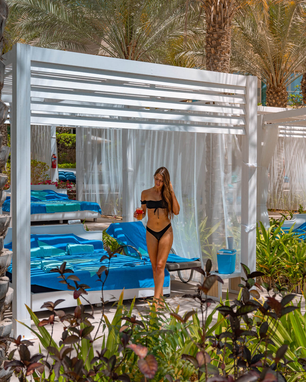 pool cabana at the Rixos The Palm Dubai