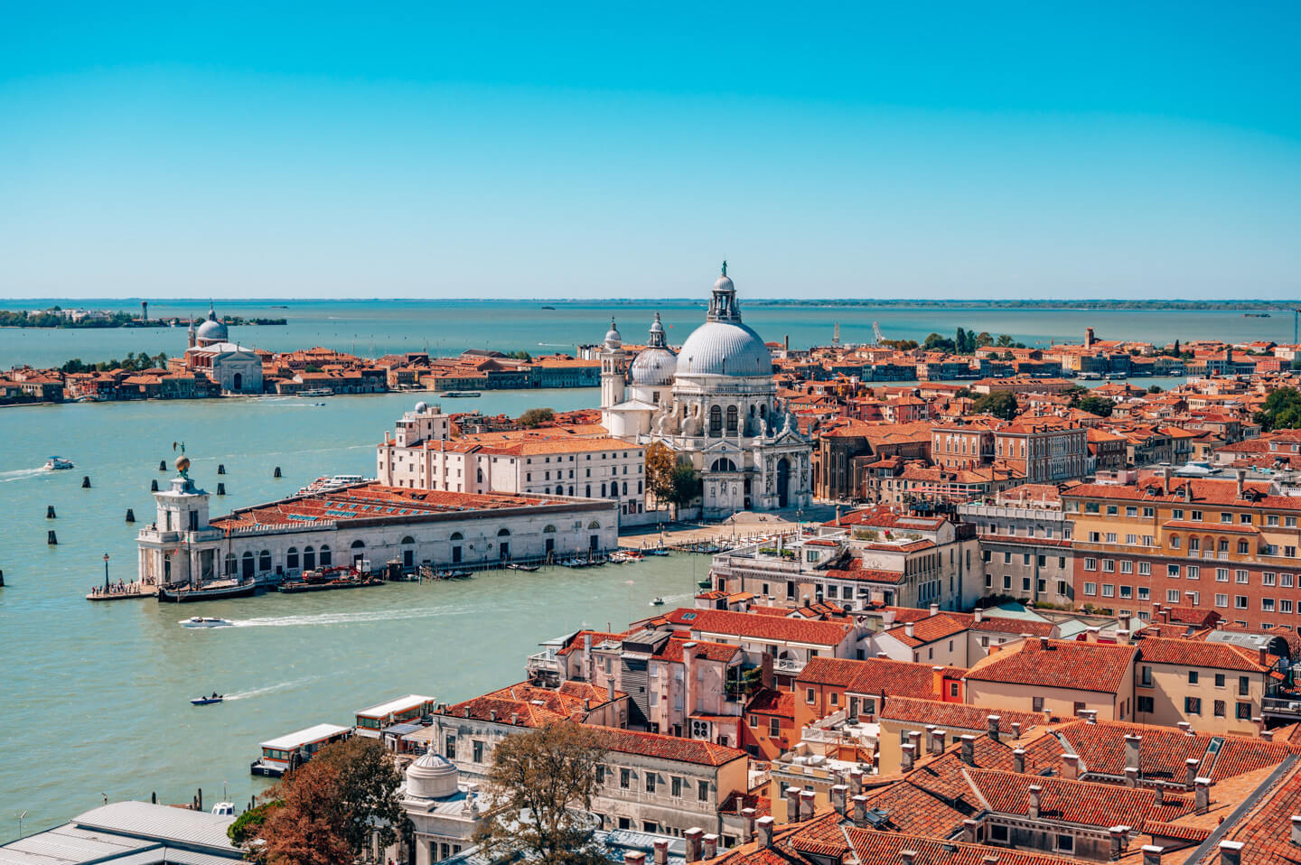 view over lagoon in venice