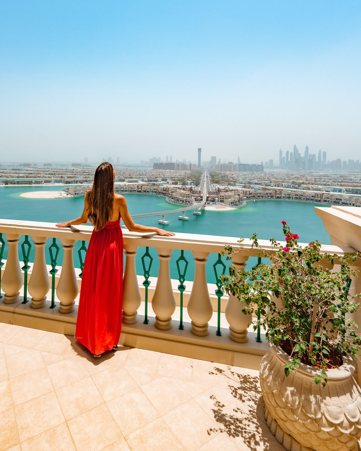View from the Balcony of the Royal Bridge Suite at the Atlantis The Palm Dubai