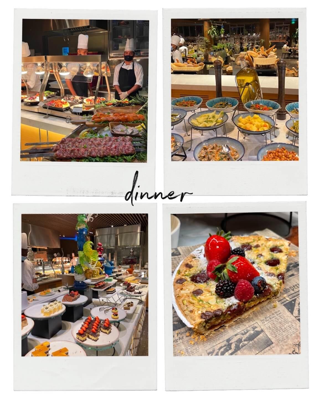 dinner buffet at The Rixos Premium Dubai