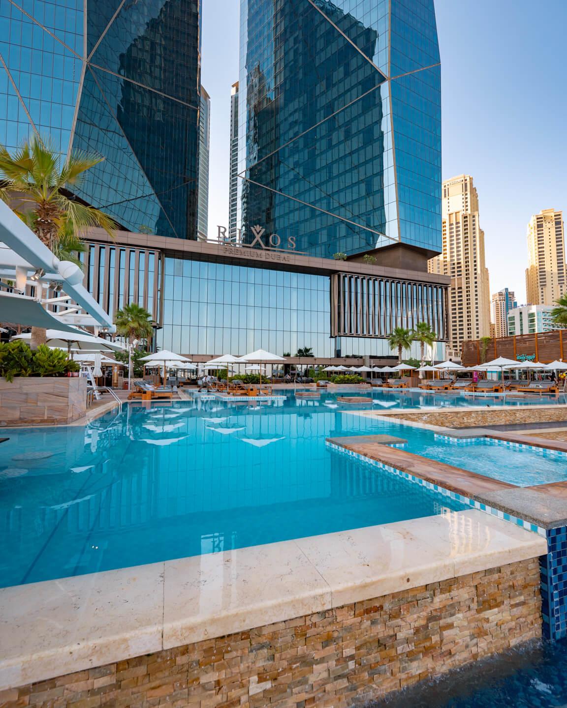 the main pool of The Rixos Premium Dubai