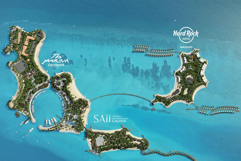map of the CROSSROADS Maldives