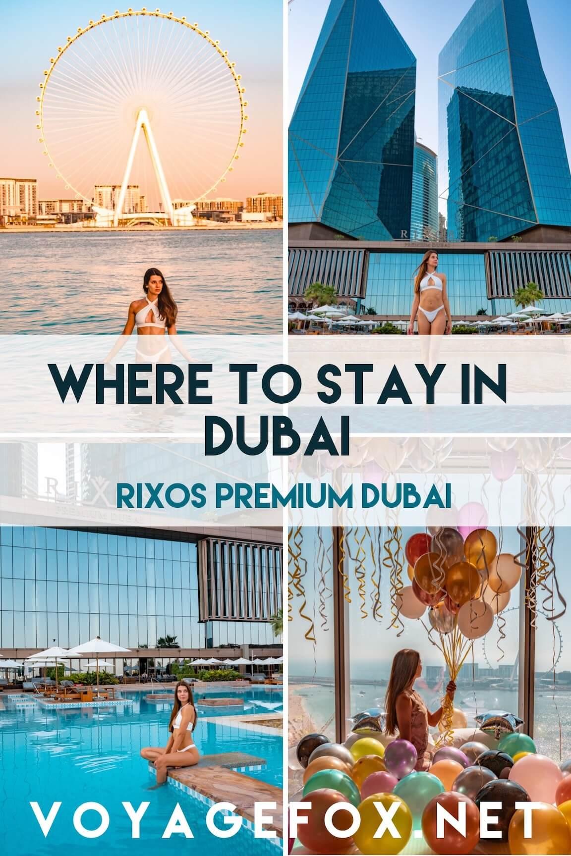 Where to stay in Dubai - The Rixos Premium Dubai