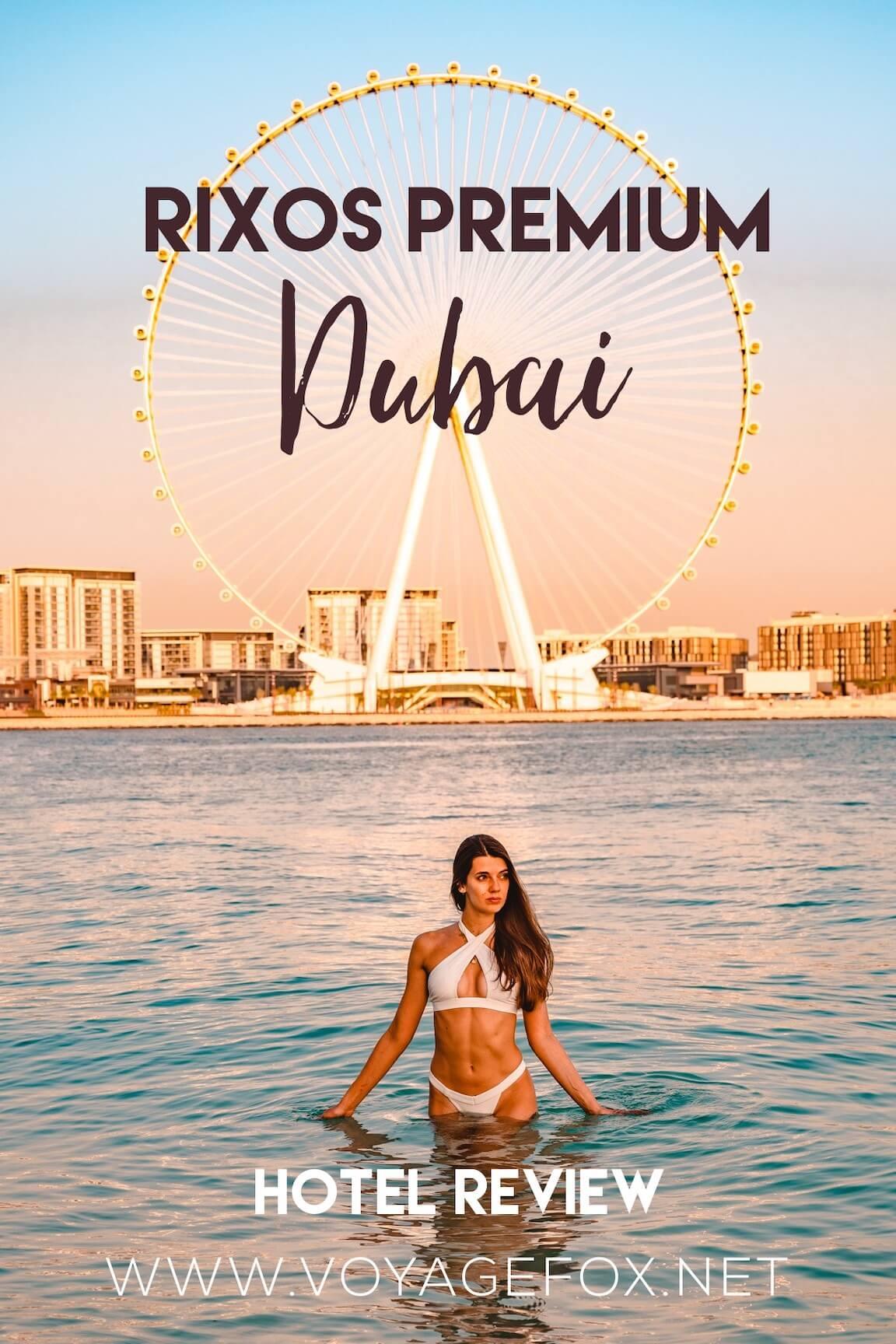 The Rixos Premium Dubai hotel review cover