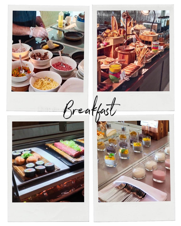 breakfast buffet at the residence maldives dhigurah