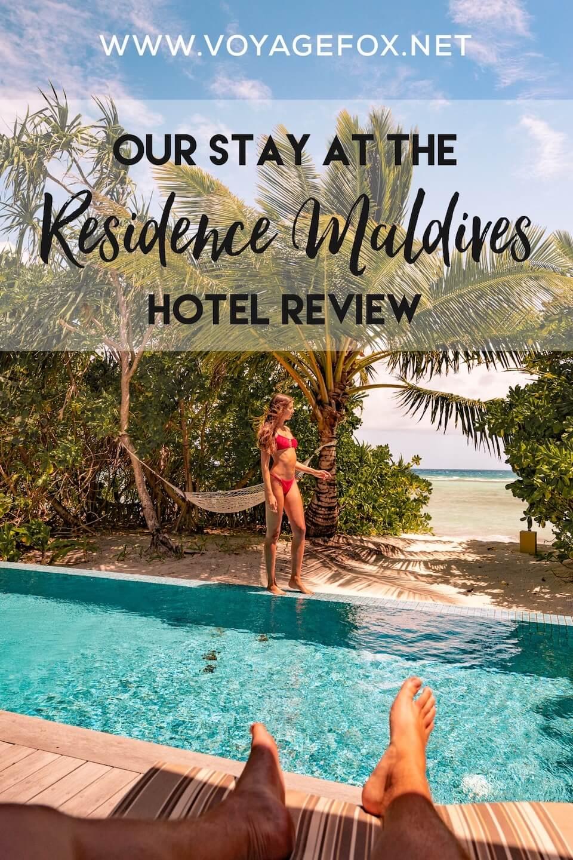 residence maldives dhigurah hotel review