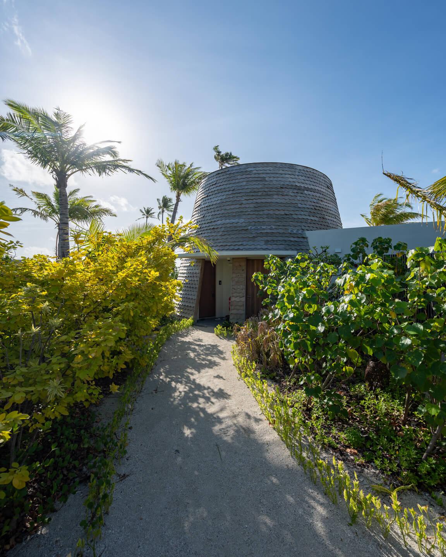 treatment room at the beach of the rock spa at the hard rock hotel maldives