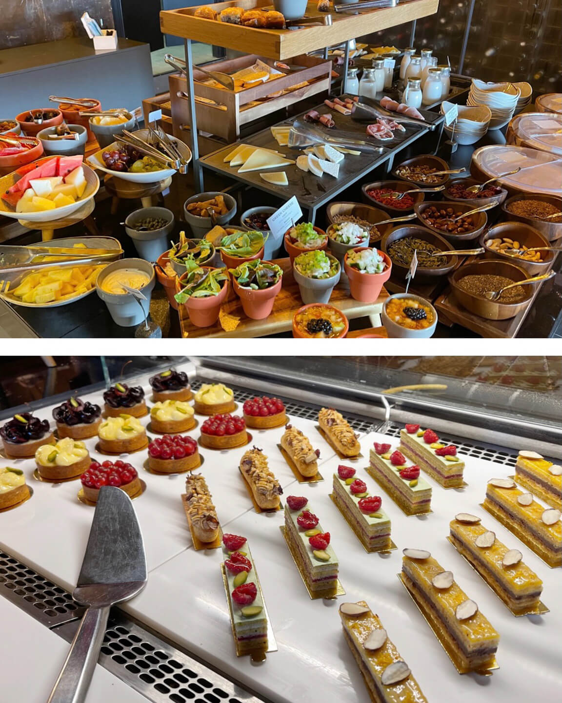 breakfast buffet of the andronis boutique hotel