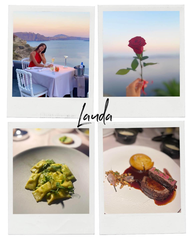 lauda restaurant of the andronis boutique hotel, santorini, greece