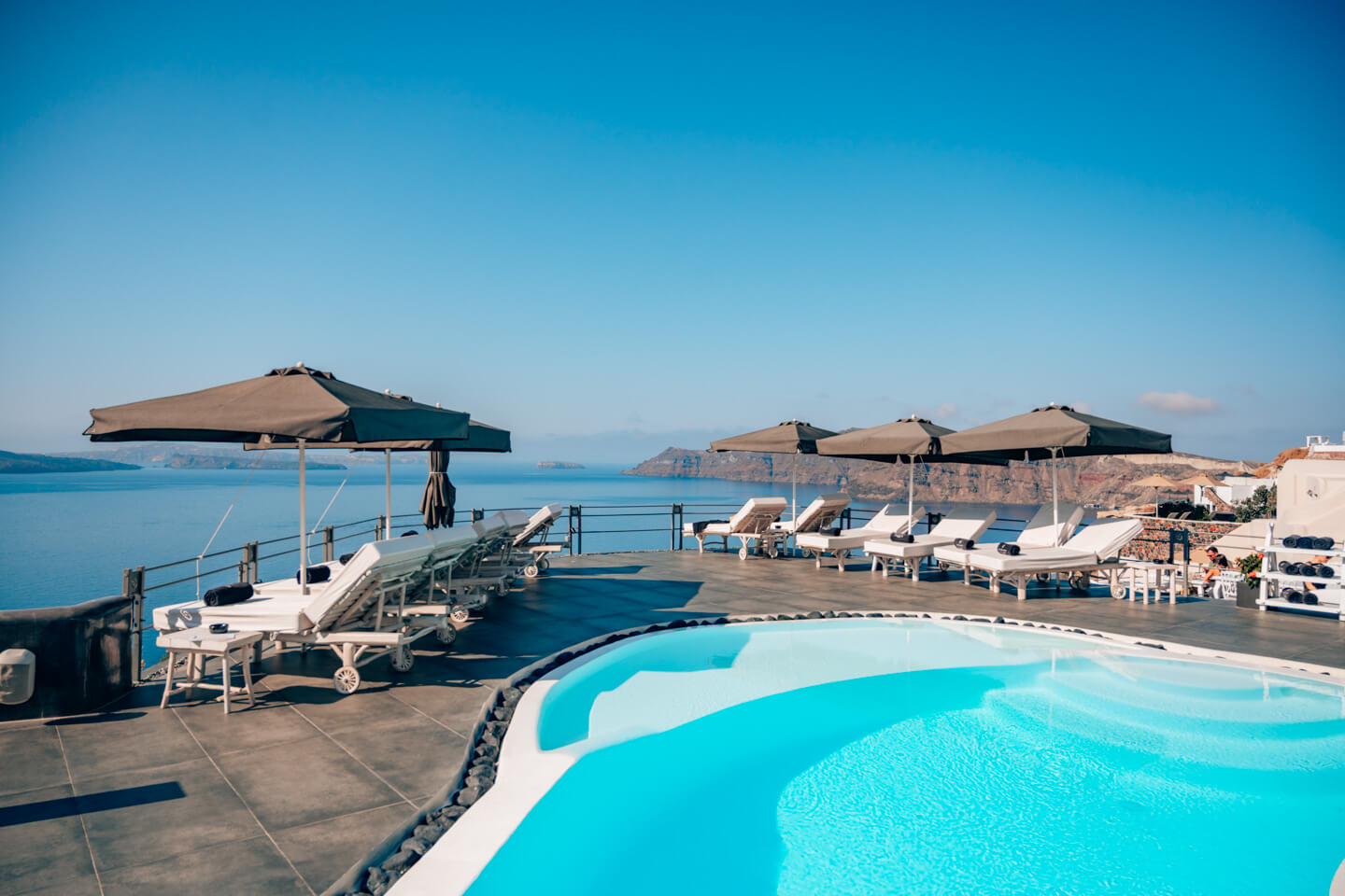 main pool of the andronis boutique hotel santorini, greece