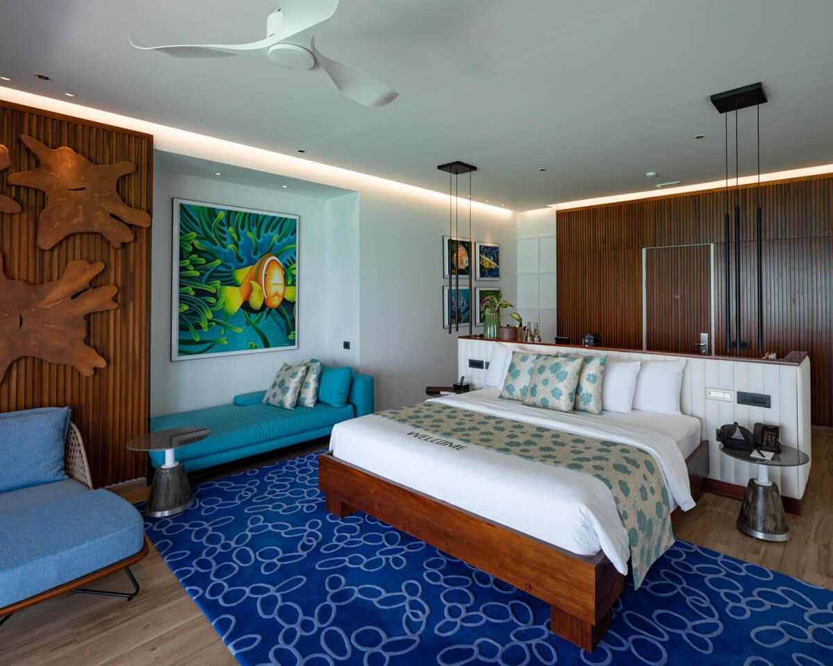 Emerald Maldives Resort and spa bedroom